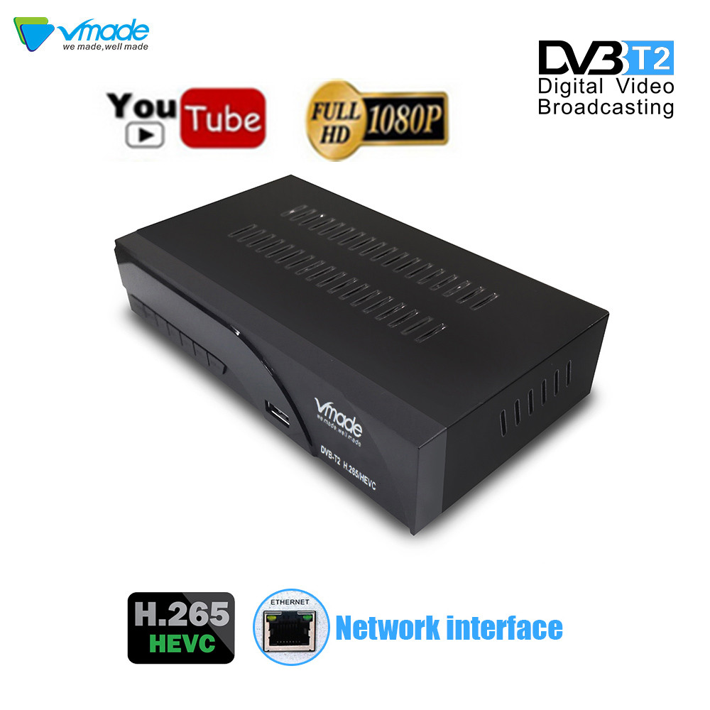 Image 2 - Vmade newest DVB T2 digital receiver H.265/HEVC DVB T2 hot sale Europe DVB T h265 hevc Support Dobly AC3 USB WIFI with RJ45-in Satellite TV Receiver from Consumer Electronics
