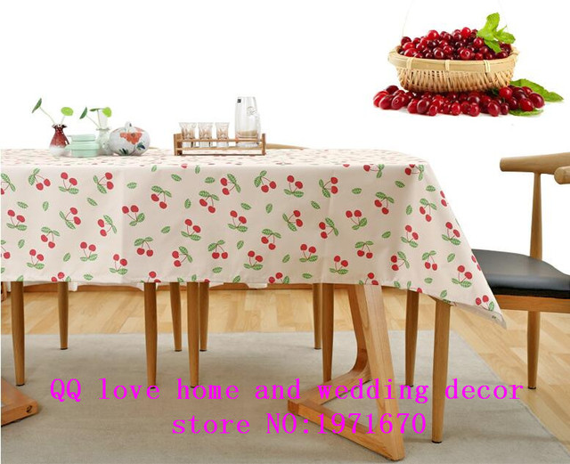 Pastoral Waterproof Table Cloth Printing Plastic Tablecloth Rectangular  Table Mats PVC Table Cloth Disposable Anti Scald