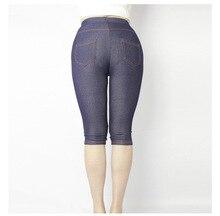 New Arrival Summer Style High Quality Women Mid-Calf leggings Super elastic Denim soft breathable 5XL Plus size women's pants