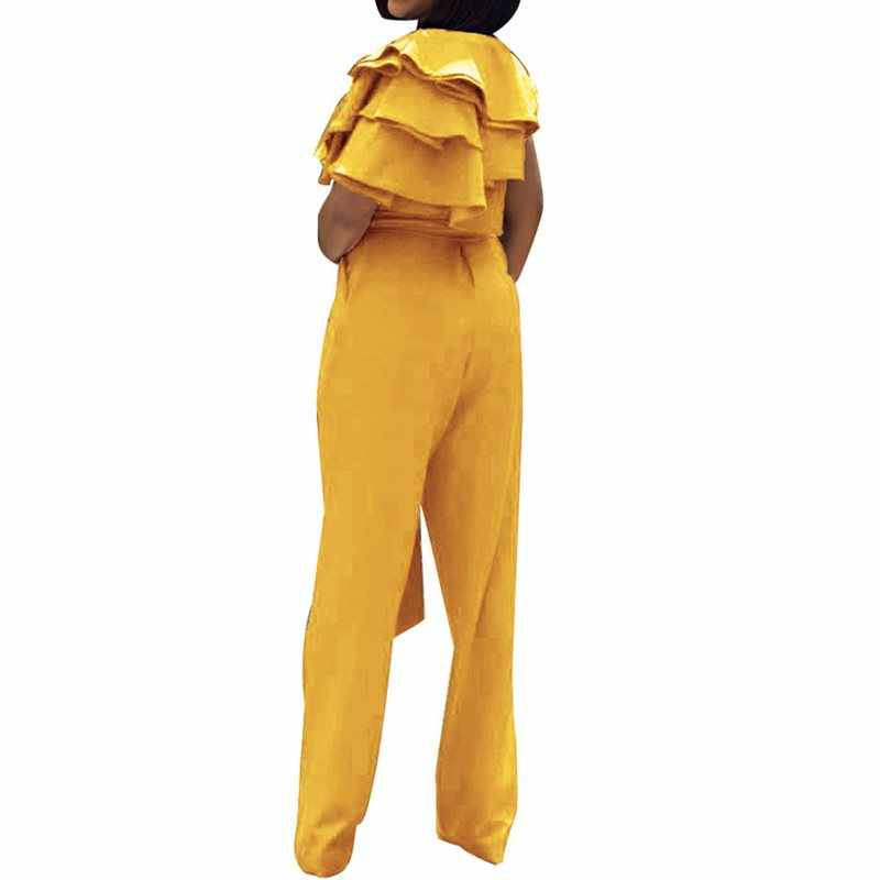 Летние Желтые Повседневные сексуальные офисные женские комбинезоны больших размеров, тонкие кружевные однотонные красные комбинезоны 2019, женские синие комбинезоны
