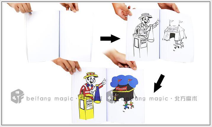 Increíble divertido libro mágico para colorear gran libro mágico ...