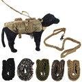 Nuevo 5.111 Ejército Nylon Tactical K9 correa correa de Perro Correa de Perro Cuerda de Tracción Arnés Elástico Militar Cuello