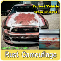 23 Kinds Different Rust Vinyl Wrap Rusty Camouflage Vinyl Film for Car Wrap Iron Car Body Stickers Motorcycle Stickers