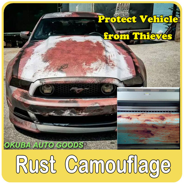 23 Kinds Different Rust Vinyl Wrap Rusty Camouflage Film For Car Iron Body Stickers Motorcycle
