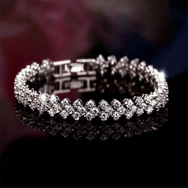 Elegant Bridal Set Heavy Gold Plated Diamante Crystal: Silver Crystal Diamante Rhinestone Gem Bridal Wedding