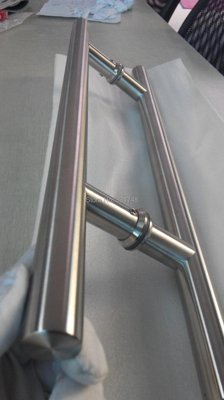 Puertas de acero inoxidable para exteriores puertas de for Manijas para puertas de vidrio