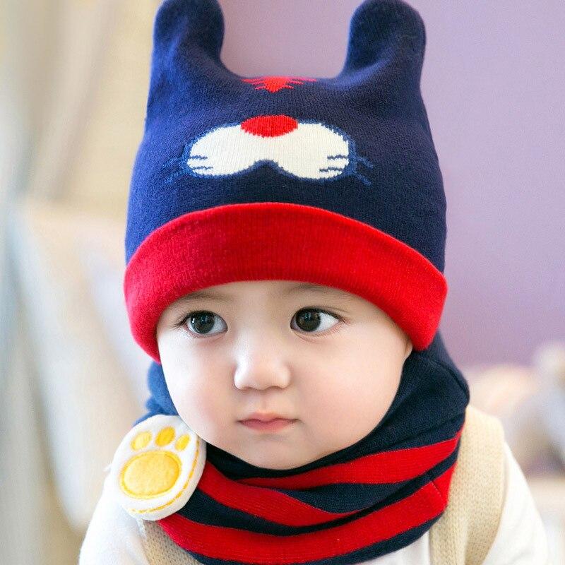 Mother & Kids Search For Flights Newborn Baby Warm Knitting Hat Set 2pcs/lot Infant Caps Cotton Baby Beanies Baby Girls Boys Hat Bib Kids Scarf Scarf Set Gh659 Rapid Heat Dissipation