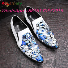 New Fashion Floral Casual Men Shoes Breathable Zapatos Honbre Spring Autumn Plus Size Attractive Handsome Round Toe Shoes