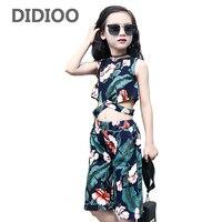 Kids Girls Clothing Sets Behemian Bare Midriff Floral Vests Loose Shorts 2Pcs 2 3 5 7