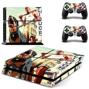 Image 5 - Grand Theft Auto V GTA 5 PS4 스킨 스티커 데칼 소니 플레이 스테이션 4 콘솔 및 2 컨트롤러 스킨 PS4 스티커 비닐 액세서리