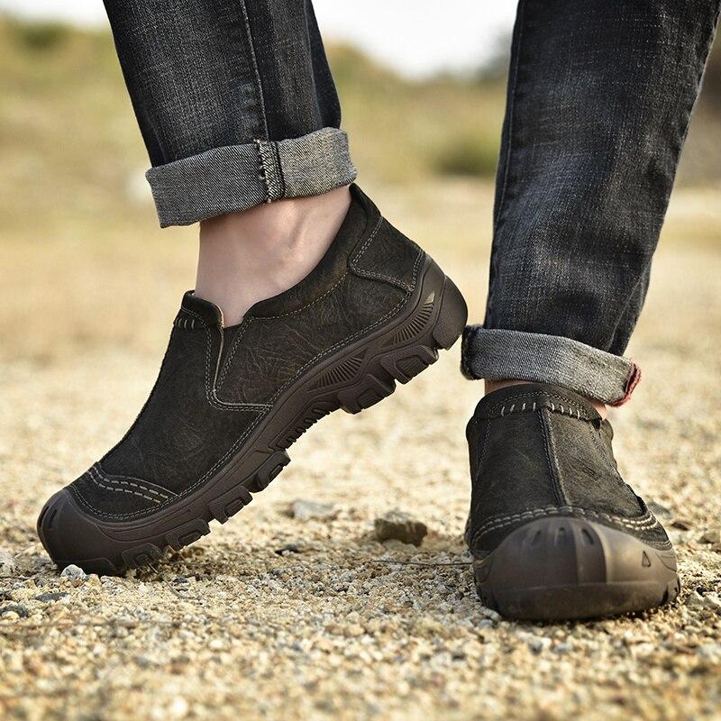 En Pour Chaussures khaki Vache Cuir Glissement Grande Printemps Black La Belle Hommes Décontracté Mode Taille Chaussure Sur Homme De Mocassins Véritable Kaki 2019 Noir wXgxq1X