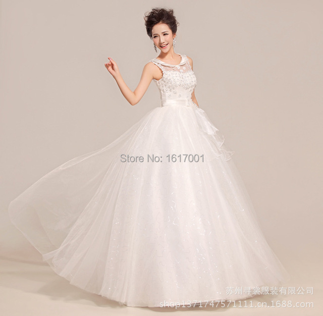 Country Western Wedding Dresses Simple Design Chiffon Fabric Dresses