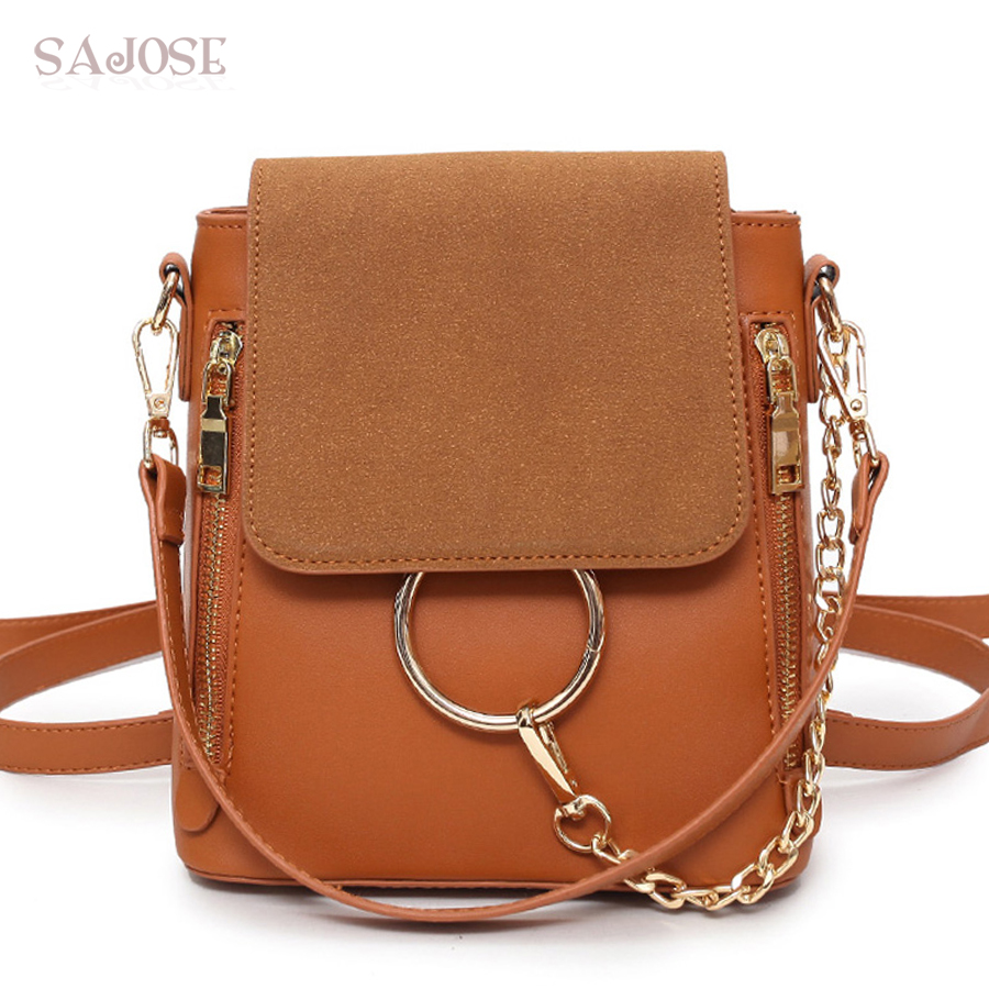 Žene ruksaci visokokvalitetni piling kože modne smeđe dame casual - Ruksaci
