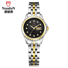 NuoDun High Quality Branded Women Watches Fashion Lady Wrist Watches For Women Stainless Steel Water Resistant