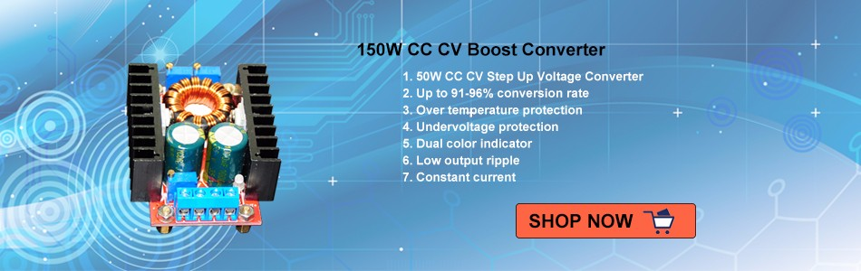 150W CC CV Step-Up Boost Voltage Converter