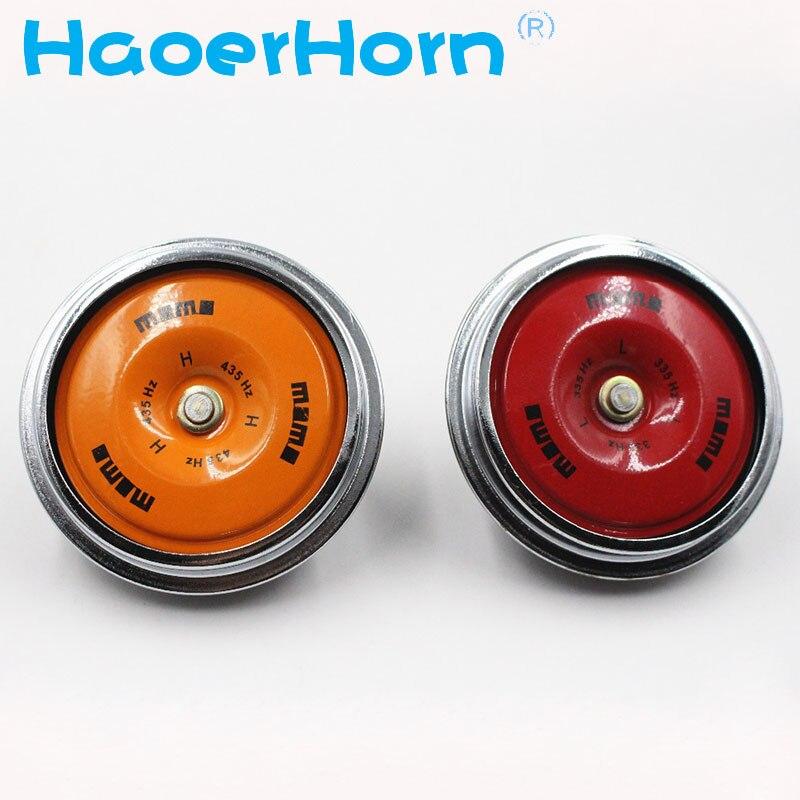 Special Auto horn 12V Sound Crisp Elegant Disc Horn Disc Car Claxon Disc loud horn 105db car truck electric motorcycle horns