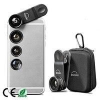 Универсальный зажим 5 в 1 мобильного телефона рыбий глаз 0.63X Широкий макро 2x телефото CPL Оптические стёкла для iphone Samsung Huawei объектив камеры
