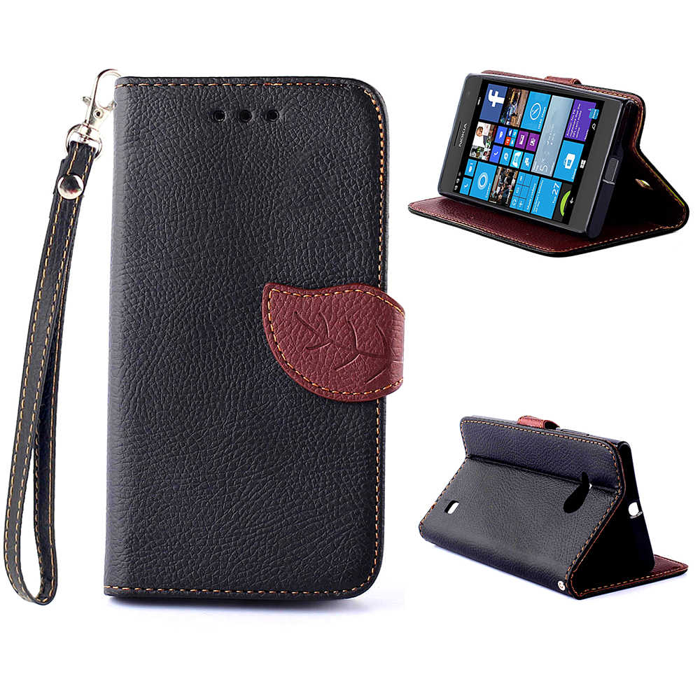 new products a22fc 5df1d For Nokia Lumia 730 Cases Flip Leather Case For Nokia Lumia 735 Cover Phone  Bag Luxury Wallet Case For Nokia 730 Stand Covers