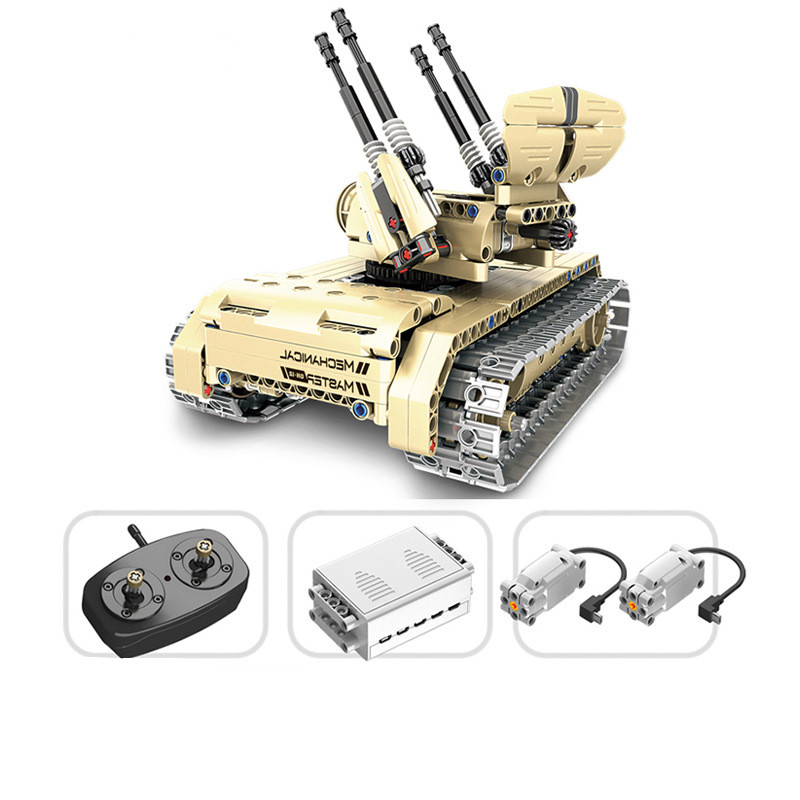 457pcs Technic Military Remote Control RC Self-propelled Anti-aircraft Gun Tank 360 Rotate USB Building Block Brick Toy peter block stewardship choosing service over self interest