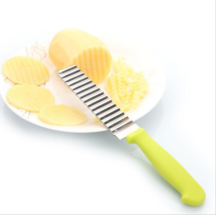 1 шт./горячая Нержавеющая сталь чипсы волнистые резак тесто растительное Crinkle Slicer bbbb гофрированные bbbb кухня Аксессуары
