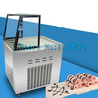 2018 fried ice cream roll machine ,Thai style rolls fried ice roll pan machine , stainless steel ice pan ice cream machine