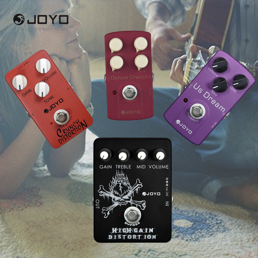 цена на JOYO Classic Tube Crunch Distortion High Gain Electric Guitar Effect Pedal True Bypass