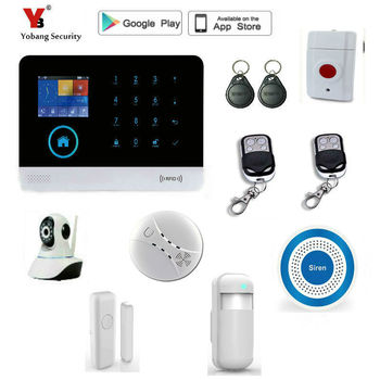 Yobang Security WIFI GSM Alarm System 2.4 Inch Display Touch Screen Home Alarm System Security with PIR Motion Detector