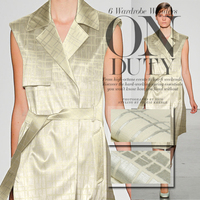 Spring and autumn jacquard linen blends coat dress fashion fabrics linen fabric wholesale high quality linen cloth