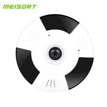 Meisort Wifi IP Camera Fisheye Camera 1080P 360 Degree Wireless Panorama Home Security Surveillance Camera Webcam Night Vision
