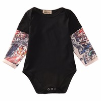 0-18M Newborn Toddler Baby Boy Cute long sleeve Bodysuit Clothes Outfits
