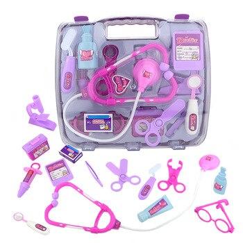 15pcs/set Children Pretend Play Doctor Nurse Toy Portable Suitcase Medical Kit Kids Educational Role Play Classic Toys