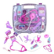 15pcs/set Children Pretend Play Doctor Nurse Toy Portable Suitcase Medical Kit