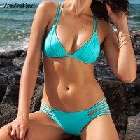 Bikini 2018 New Sexy Push Up Swimwear Women Brazilian Retro Solid Swimsuit Female Brazilian Bathing Suits