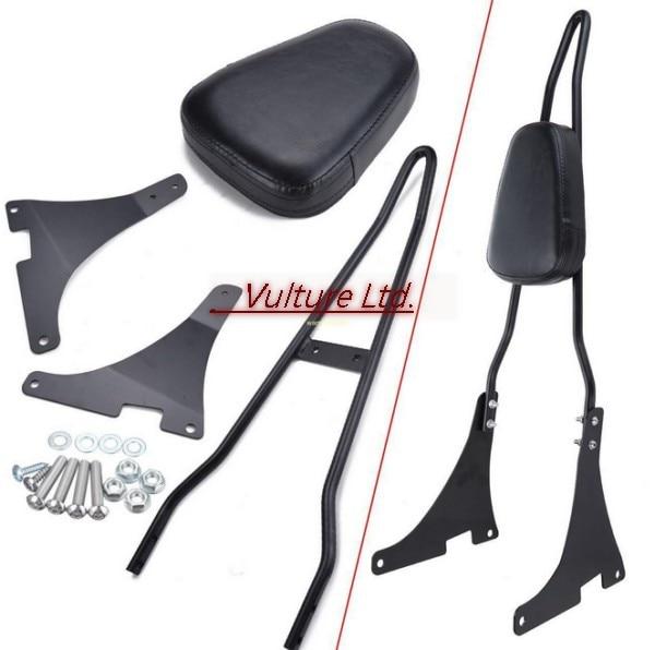 Black Motocycle Rear Backrest Sissy Bar For Harley Davidson XL883C R XL1200R C XL1200S XLH883