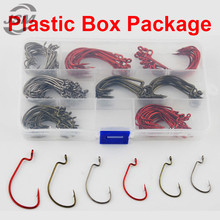 JSM 150pcs 7316 High Carbon Steel Fishing Hooks Offset Jig Worm X Strong Fishing Hook Set With Box Size 1 1/0 2/0 3/0 4/0 5/0