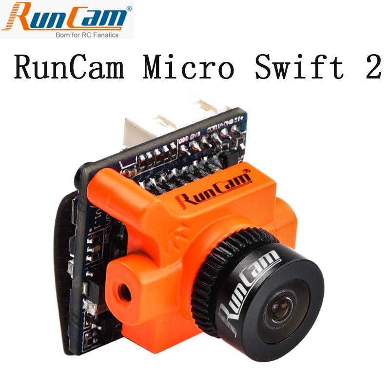 RunCam Micro Swift 2 600TVL PAL/NTSC 2.1mm/2.3mm Lens FOV 160/145 Degree 1/3 CCD FPV Camera with Built-in OSD  RunCam Micro Swift 2 600TVL PAL/NTSC 2.1mm/2.3mm Lens FOV 160/145 Degree 1/3 CCD FPV Camera with Built-in OSD