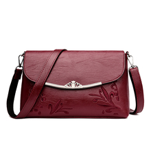 Latest New Fashion Brand Crown Desgin Floral PuWomen Black Red Shoulder & Crossbody Bag Handbag Messenger  Ladies Baguette