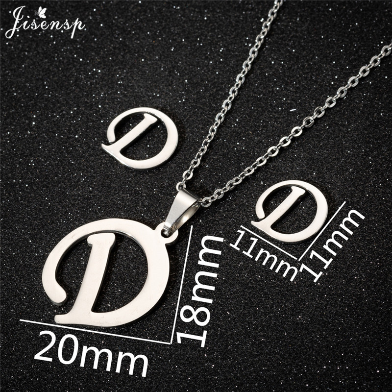 Jisensp Personalized A-Z Letter Alphabet Pendant Necklace Gold Chain Initial Necklaces Charms for Women Jewelry Dropshipping 8