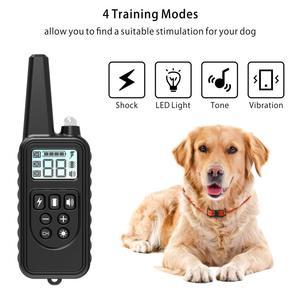 Image 2 - 800m elektryczna obroża do szkolenia psa Pet zdalnie sterowana wodoodporna ładowalna z wyświetlaczem LCD dla wszystkich rozmiarów Shock Vibration Sound