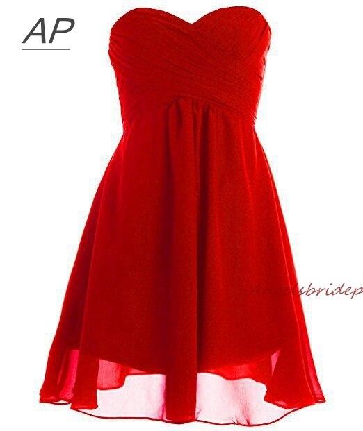 ANGELSBRIDEP קצר שושבינה שמלת שיפון זול סקסי מתוק לפרוע Vestido Madrinha מסיבת שמלת פורמליות סלבריטאים שמלה