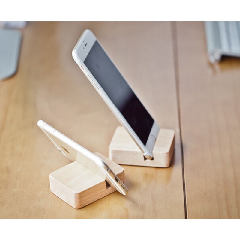 Buy portefeuille square wooden mobile for Un stand