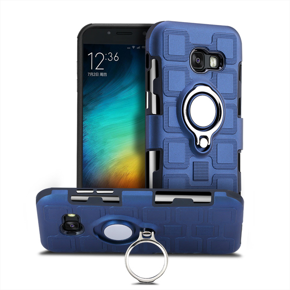 AXBETY coqeu For <font><b>samsung</b></font> Galaxy a7 <font><b>a5</b></font> a3 2017 <font><b>case</b></font> silicon Protective Stand Holder <font><b>Case</b></font> Combo <font><b>Magnetic</b></font> Rotate Ring armor Cover image