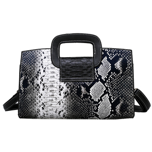 Image 3 - Classic Ladies Handbag Snake Printing High Quality Leather Ladies Crossbody Bag 2019 Luxurious Brand Women Shoulder Bag Tote