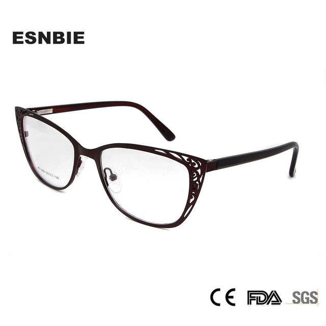 Aliexpress.com : Buy ESNBIE Metal Vintage Cats Eye Glasses Frames ...