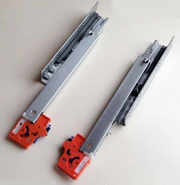 16 400mm full extension 3 folds under mount soft close drawer slide rail runner clips dtc. Black Bedroom Furniture Sets. Home Design Ideas