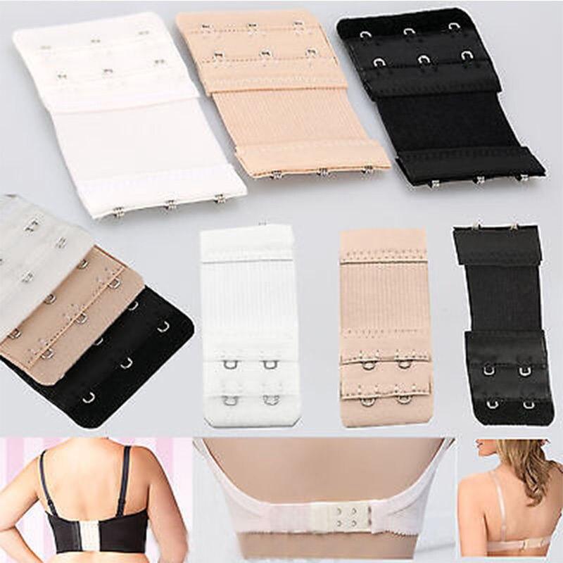 3 Hooks Ladies Bra Extenders  Extension Strap Clip Underwear Strapless
