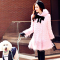 dabuwawa 2016 winter women's new fashionable plush woolen coat fur coat women pink doll
