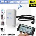1pc Wifi Wireless For iOS Android Endoscope HD 2.0MP 9mm 1/1.5/2m Snake Camera