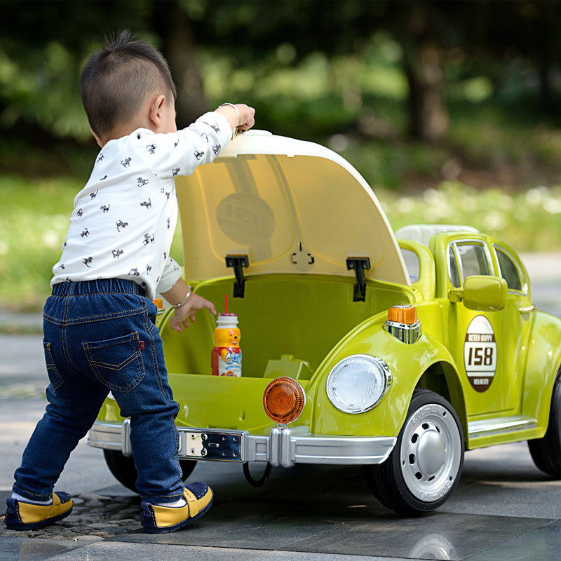 electric car for kids ride on with remote control music beatles 12v double motor car baby children giftfrozen ride on toy car in ride on cars from toys