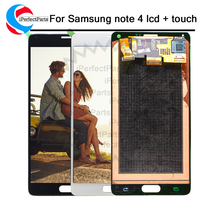 Super AMOLED for Samsung Note 4 N910 N910A N910F Note4 LCD Display Touch Screen Digitizer Assembly 5.7 for Samsung Note 4 lcd
